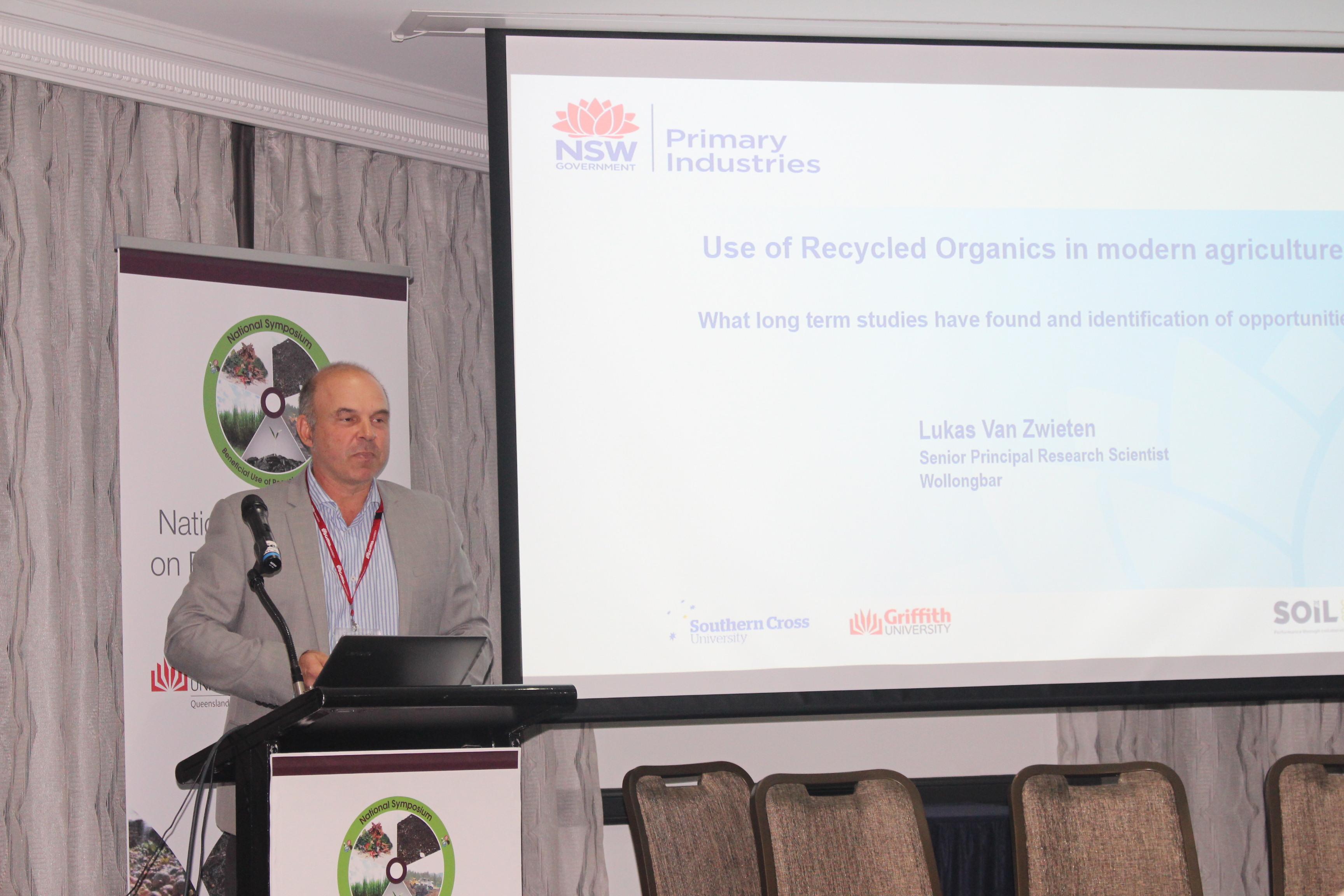 Prof Lukas van Zwieten, NSW DPI & Soil CRC